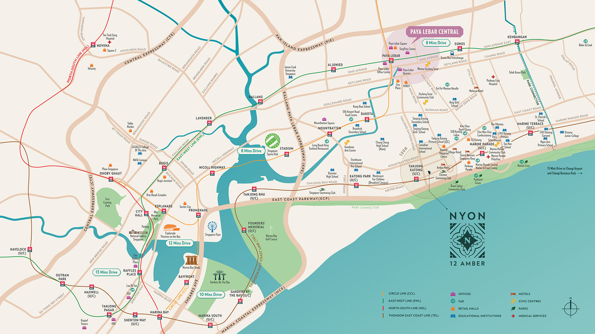 Nyon Location Map Singapore